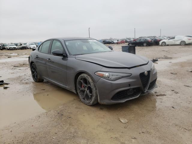 Salvage cars for sale from Copart Temple, TX: 2019 Alfa Romeo Giulia TI