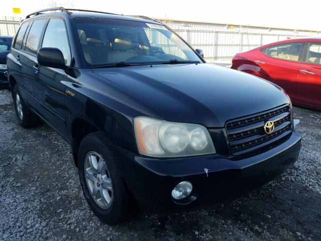 Salvage cars for sale from Copart Walton, KY: 2002 Toyota Highlander