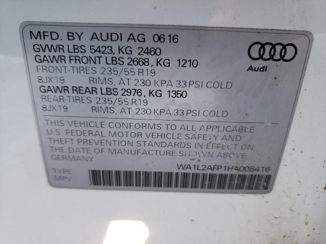 WA1L2AFP1HA008416 2017 Audi Q5 Premium 2.0L