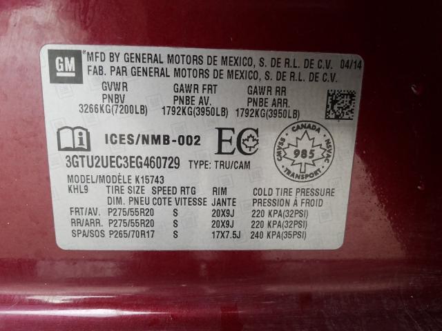 3GTU2UEC3EG460729 2014 Gmc Sierra K15 5.3L