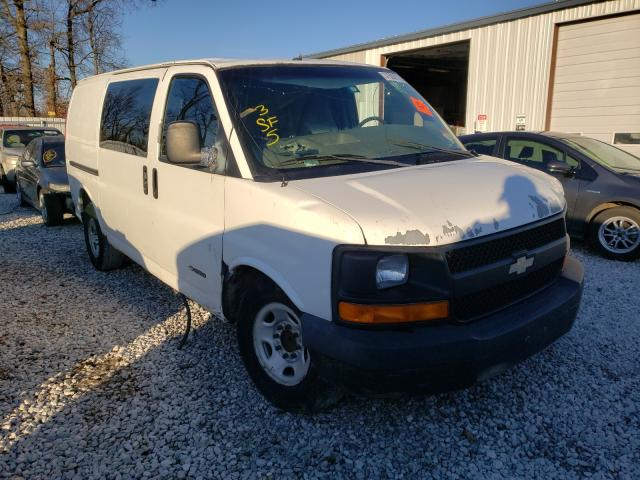 Salvage trucks for sale at Rogersville, MO auction: 2003 Chevrolet Express G2