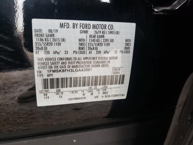 1FMSK8FH3LGA43091 2020 Ford Explorer L 2.3L