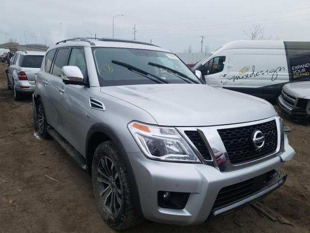 Salvage cars for sale from Copart Hammond, IN: 2019 Nissan Armada SV