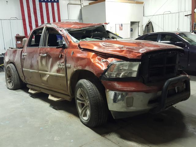 Salvage cars for sale from Copart Billings, MT: 2013 Dodge RAM 1500 SLT