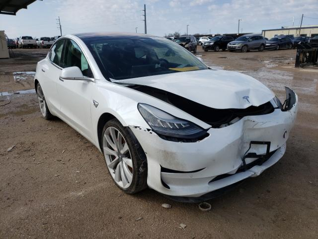 Salvage cars for sale from Copart Temple, TX: 2018 Tesla Model 3