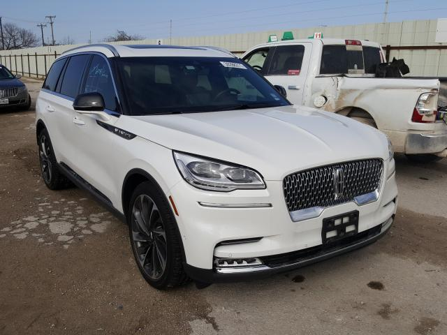 Salvage cars for sale from Copart San Antonio, TX: 2020 Lincoln Aviator RE