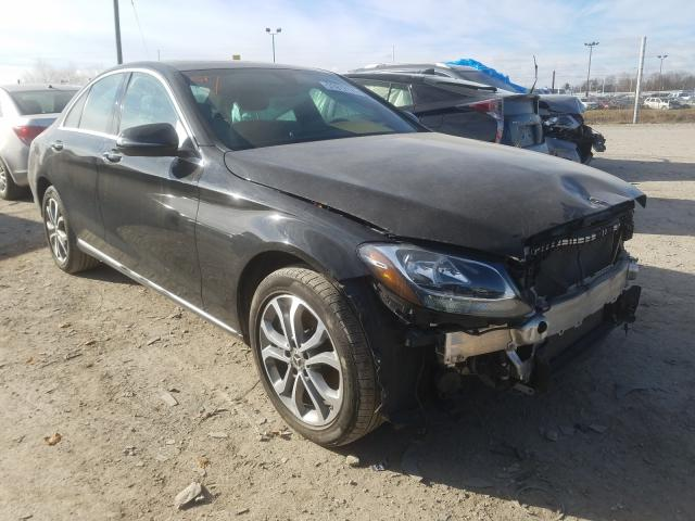 Salvage cars for sale from Copart Indianapolis, IN: 2018 Mercedes-Benz C 300 4matic