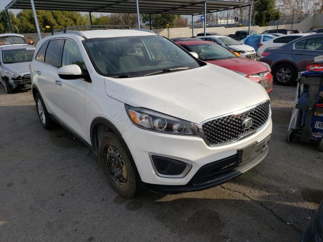 Salvage cars for sale from Copart Colton, CA: 2016 KIA Sorento LX