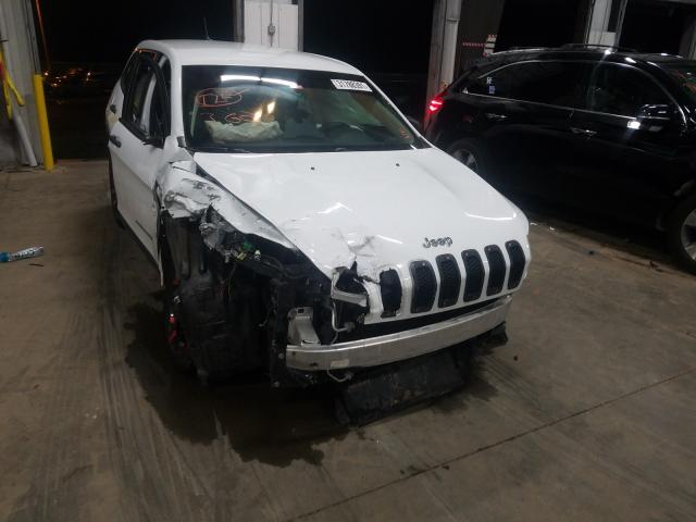 Salvage cars for sale from Copart Louisville, KY: 2016 Jeep Cherokee S