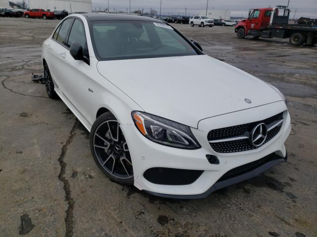 Salvage cars for sale from Copart Tulsa, OK: 2017 Mercedes-Benz C 43 4matic
