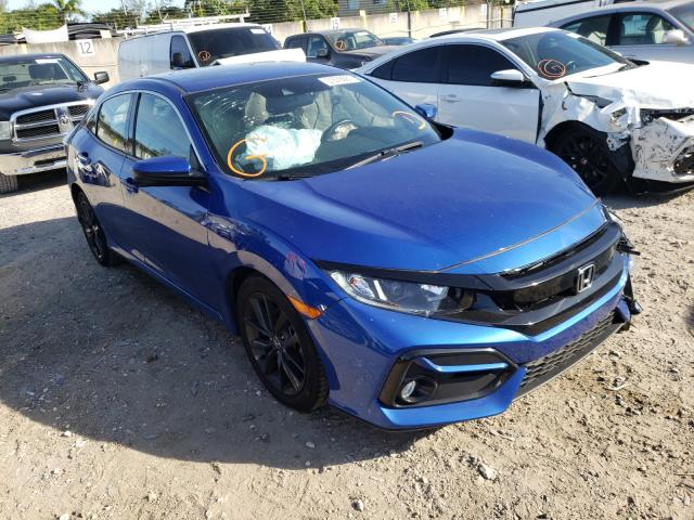 Salvage cars for sale from Copart Opa Locka, FL: 2020 Honda Civic EX