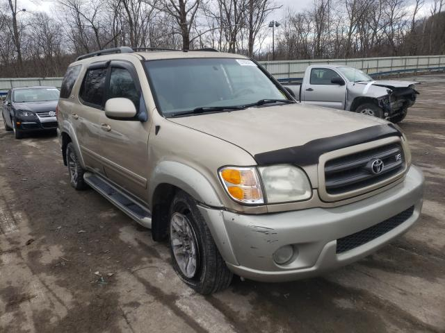 Salvage cars for sale from Copart Ellwood City, PA: 2004 Toyota Sequoia SR