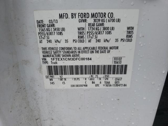 2013 FORD F150 SUPER 1FTEX1CM3DFC00184