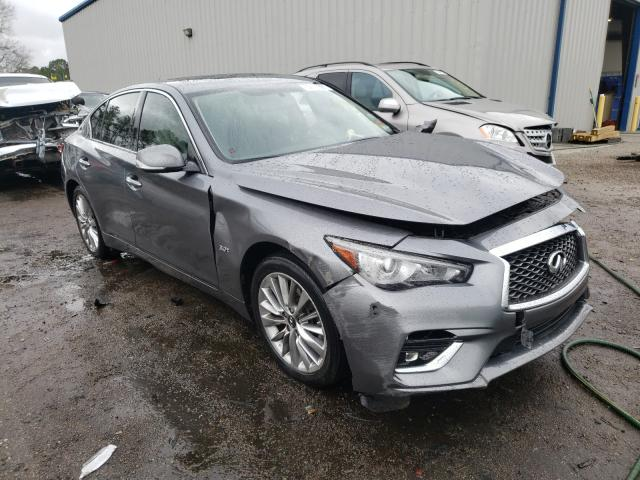 Salvage cars for sale at Harleyville, SC auction: 2019 Infiniti Q50 Luxe