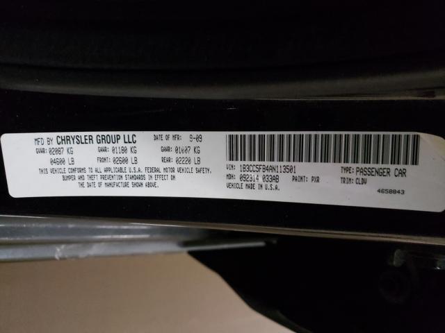 2010 Dodge AVENGER | Vin: 1B3CC5FB4AN113501