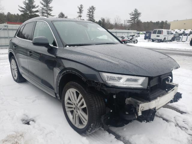 Salvage cars for sale from Copart Exeter, RI: 2020 Audi Q5 Premium