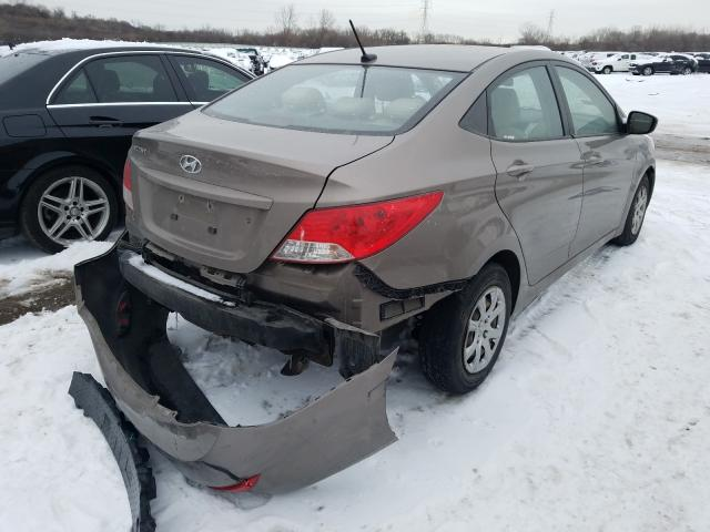 2014 HYUNDAI ACCENT GLS - Right Rear View
