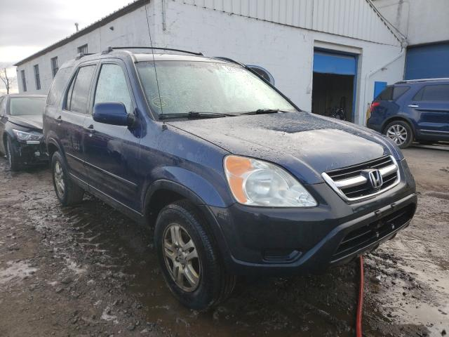 Salvage cars for sale from Copart Hillsborough, NJ: 2003 Honda CR-V EX