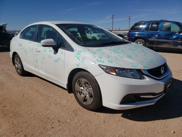 Salvage cars for sale from Copart Andrews, TX: 2014 Honda Civic LX