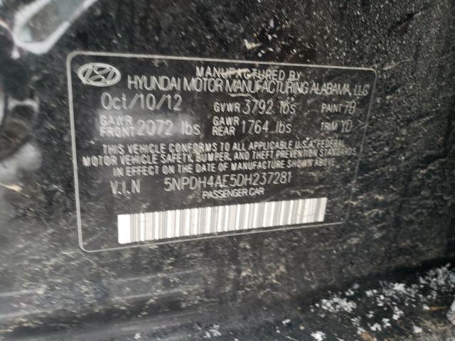 5NPDH4AE5DH237281 2013 Hyundai Elantra Gl 1.8L