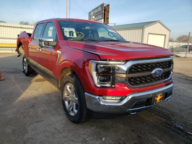 Salvage cars for sale from Copart Wichita, KS: 2021 Ford F-150