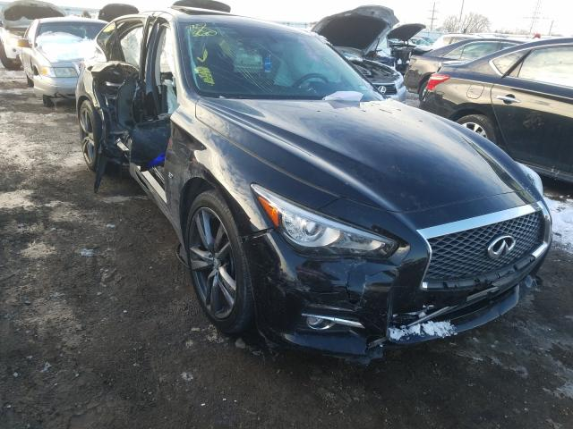 Salvage cars for sale from Copart Elgin, IL: 2015 Infiniti Q50 Base