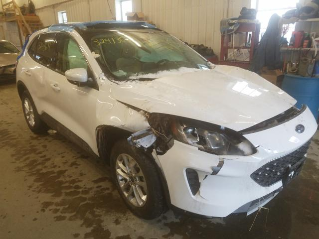 Salvage cars for sale from Copart West Warren, MA: 2020 Ford Escape SE