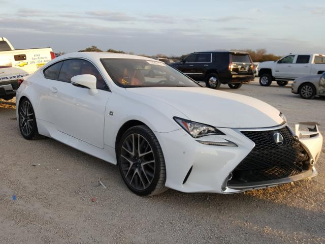 Salvage cars for sale from Copart San Antonio, TX: 2016 Lexus RC 200T