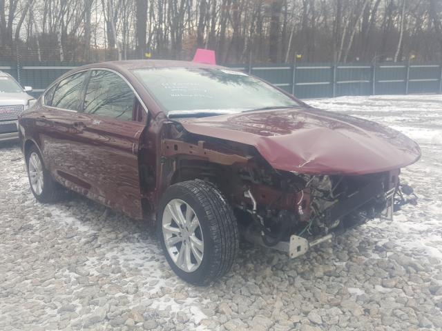 Salvage cars for sale from Copart Candia, NH: 2015 Chrysler 200 Limited