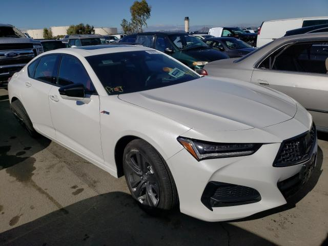 Salvage cars for sale from Copart Martinez, CA: 2021 Acura TLX Tech A