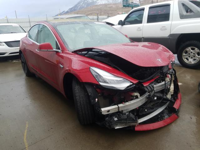 Salvage cars for sale from Copart Farr West, UT: 2018 Tesla Model 3