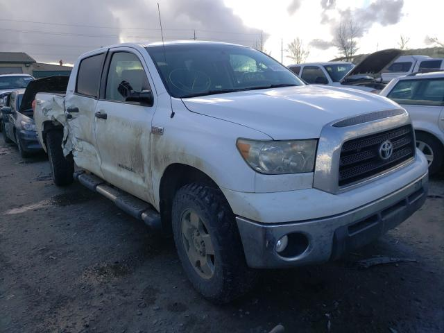 Salvage cars for sale from Copart Eugene, OR: 2007 Toyota Tundra CRE