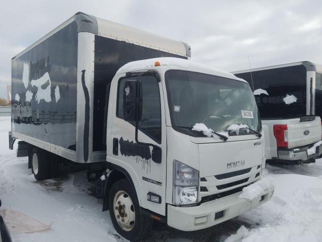 Salvage trucks for sale at Elgin, IL auction: 2018 Isuzu NPR HD