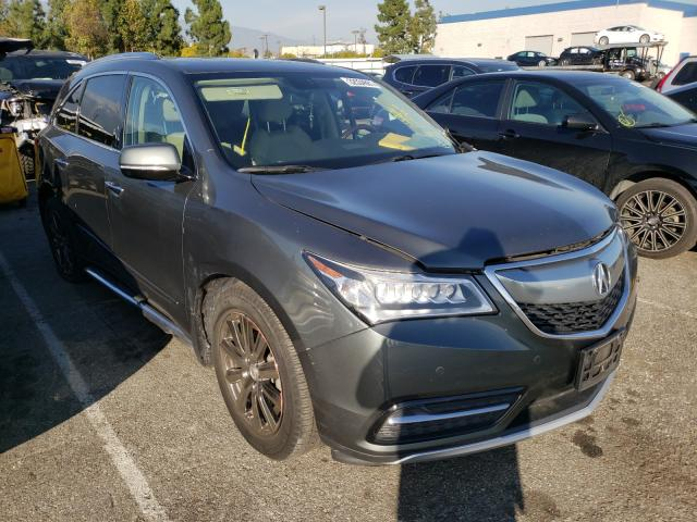 Salvage cars for sale from Copart Rancho Cucamonga, CA: 2014 Acura MDX Advance
