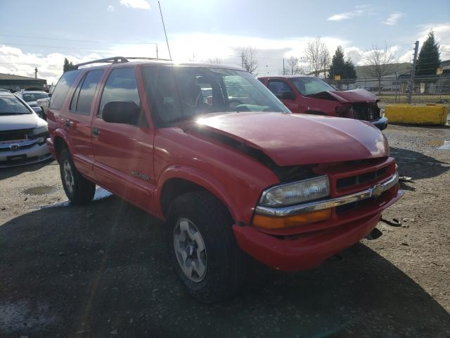 Salvage cars for sale from Copart Eugene, OR: 2002 Chevrolet Blazer