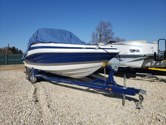 Salvage cars for sale from Copart Sikeston, MO: 2019 Crownline 265 SS