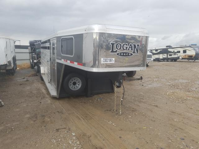 Logan salvage cars for sale: 2020 Logan Horse Trailer