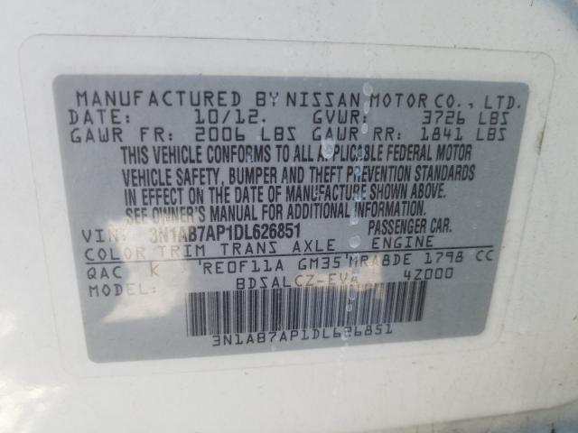 2013 NISSAN SENTRA S 3N1AB7AP1DL626851