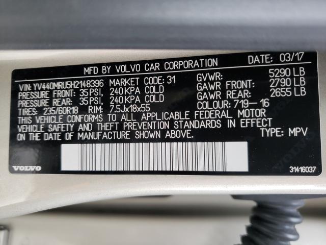 2017 VOLVO XC60 T5 IN YV440MRU5H2148396