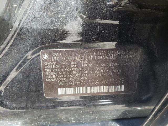 2010 BMW 3 series | Vin: WBAPH7G53ANM50275