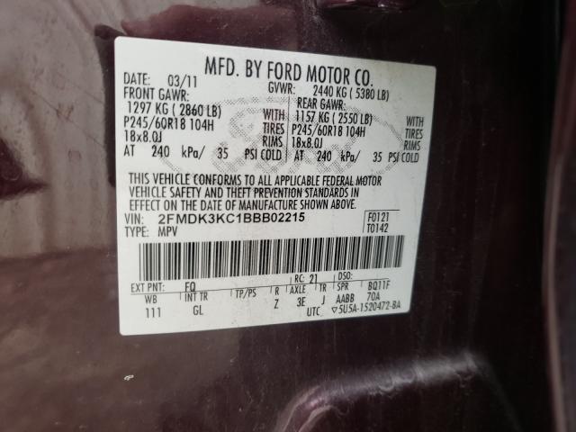 2011 FORD EDGE LIMIT 2FMDK3KC1BBB02215