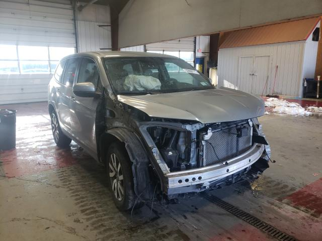 Salvage cars for sale from Copart Angola, NY: 2019 Honda Pilot EX