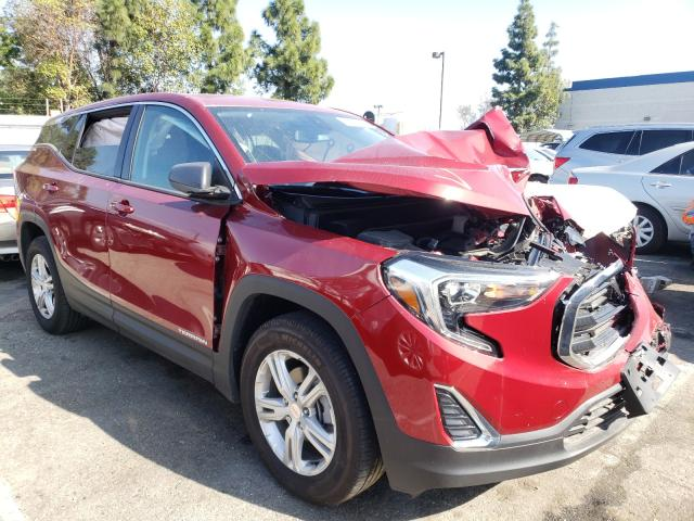 Salvage cars for sale from Copart Rancho Cucamonga, CA: 2020 GMC Terrain SL