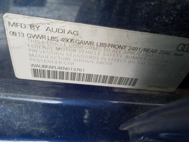 2014 AUDI A4 PREMIUM WAUBFAFL4EN013761