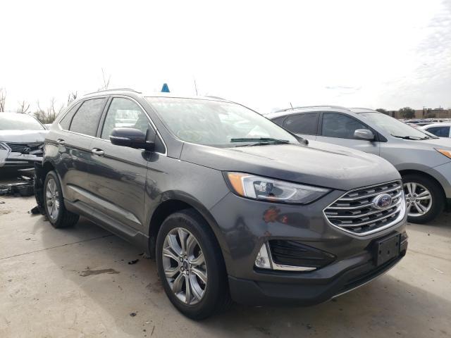Salvage cars for sale from Copart Grand Prairie, TX: 2019 Ford Edge Titanium