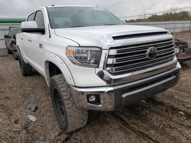 Salvage cars for sale from Copart Houston, TX: 2018 Toyota Tundra CRE