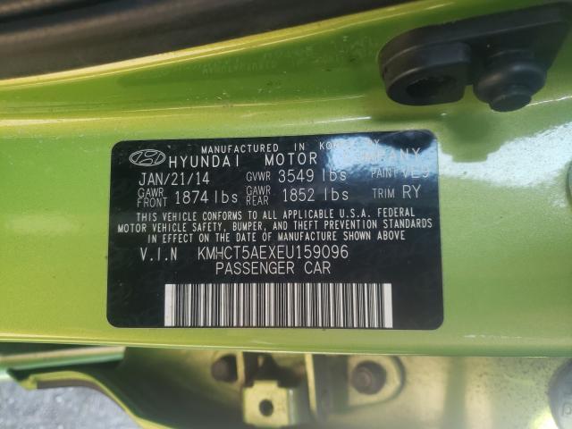 2014 HYUNDAI ACCENT GLS KMHCT5AEXEU159096