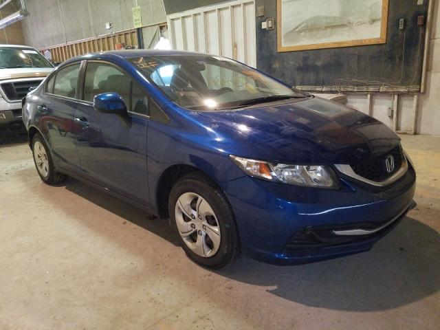 Salvage cars for sale from Copart Indianapolis, IN: 2013 Honda Civic LX