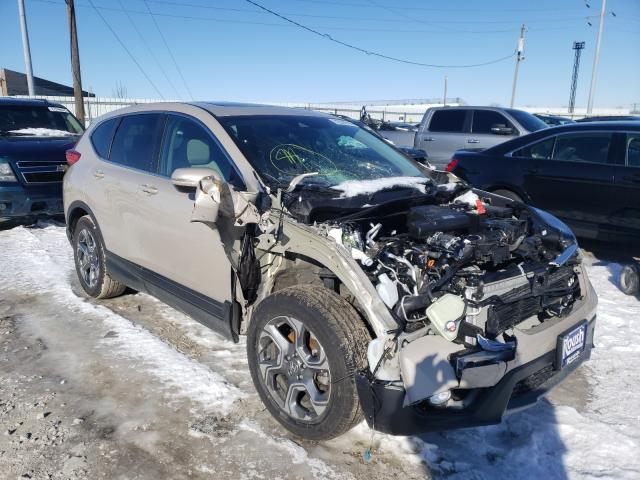 Salvage cars for sale from Copart Columbus, OH: 2018 Honda CR-V EX
