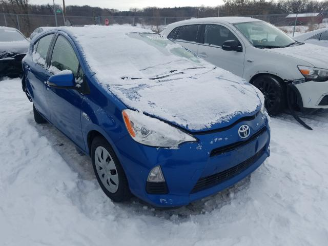 Salvage cars for sale from Copart Madison, WI: 2014 Toyota Prius C